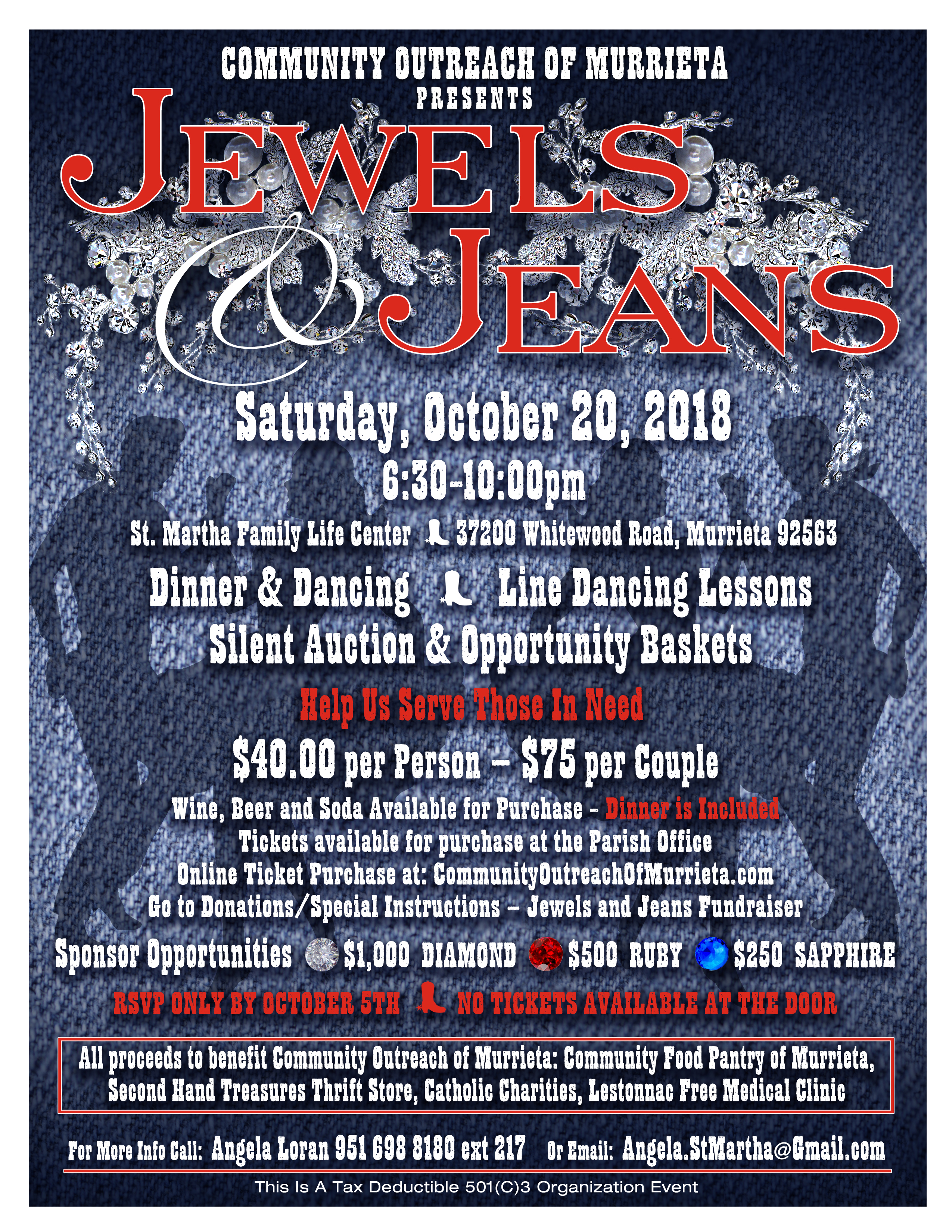 This Event Will Benefit Community Outreach Of Murrieta Food Pantry Second Hand Treasures Thrift Store Catholic Charities