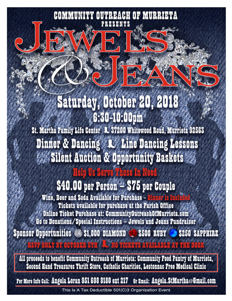 jewels and jeans fundraiser